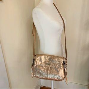 Aimee Kestenberg Rose Gold Foldover Crossbody Bali